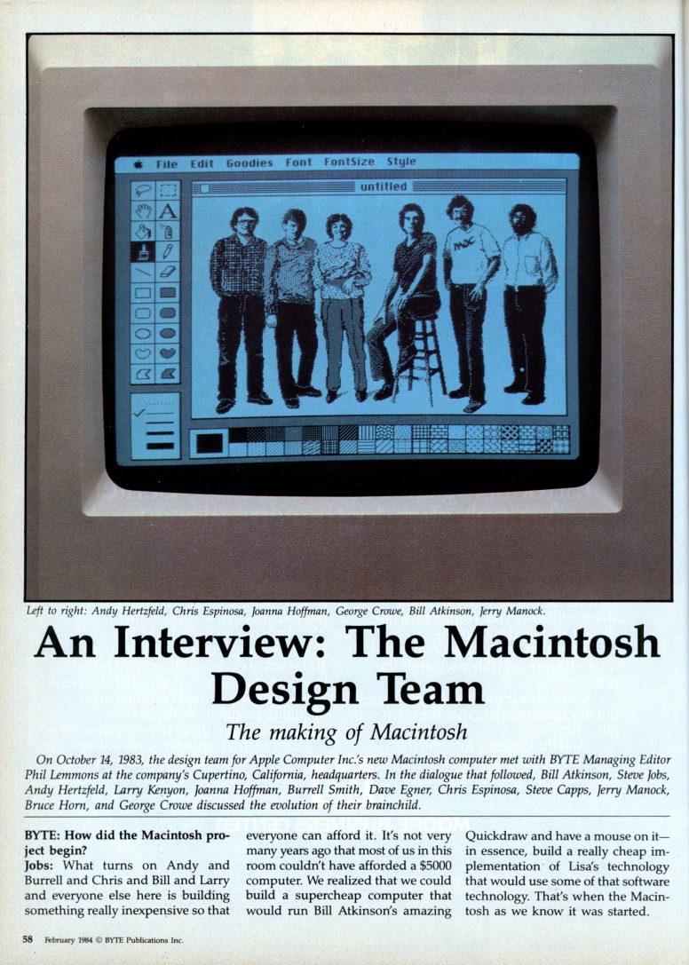 Equipo de diseño del Mac