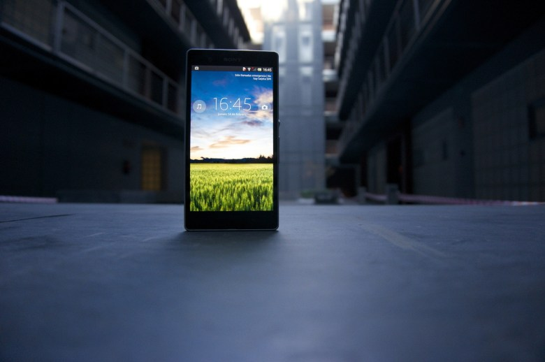 Sony Xperia Z perspectiva