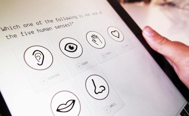 Typeform en una tableta