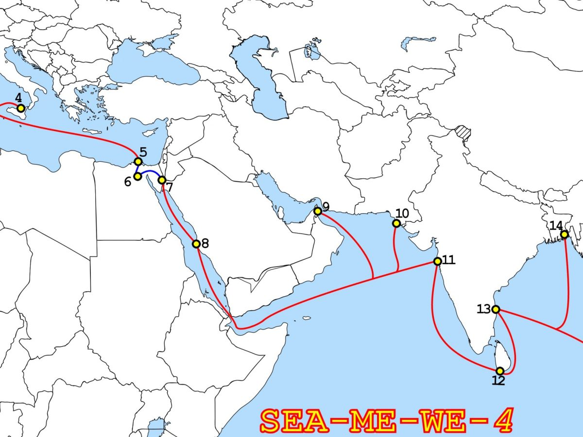 SEA-ME-WE-4-Route