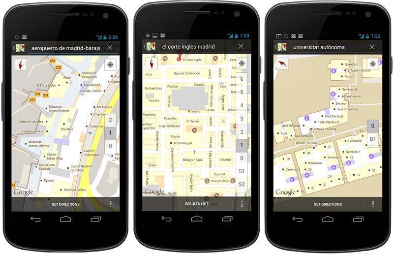 Los mapas interiores de Google, en España