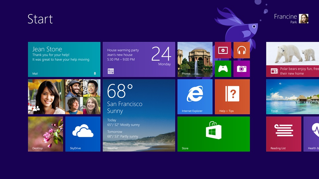 Pantalla de Inicio en Windows 8.1