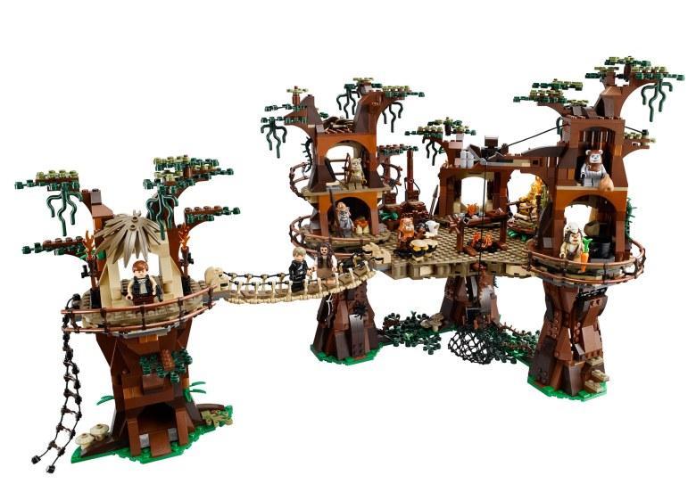 Poblado de los Ewoks en Lego