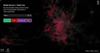 México mapa de tweets