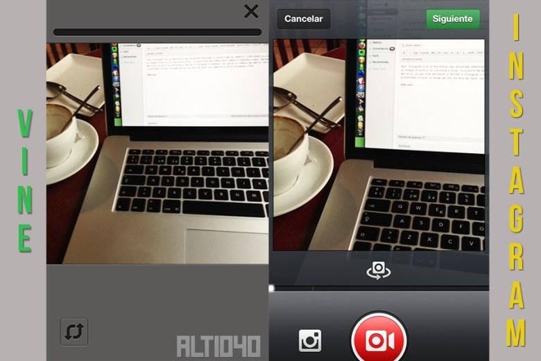 comparativa entre Instagram y Vine