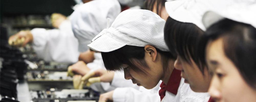 fábricas de Apple en China