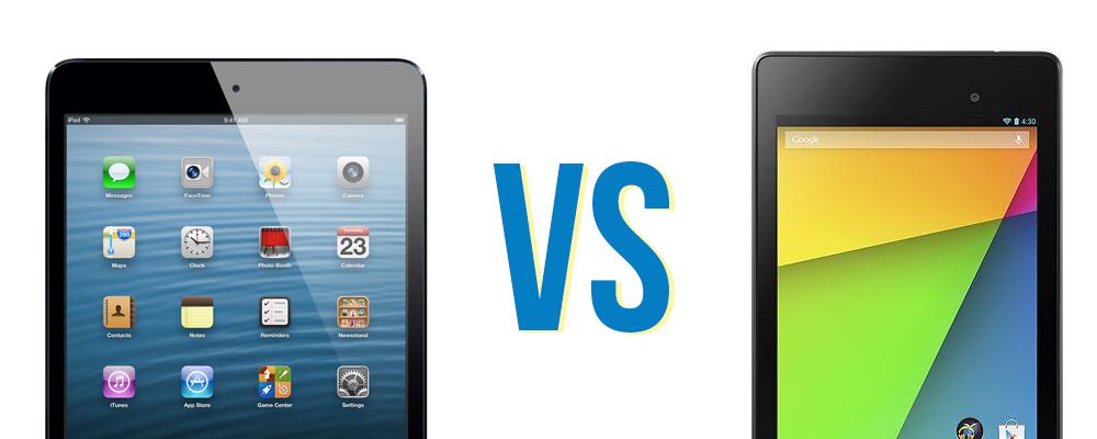 nuevo Nexus 7 vs iPad mini