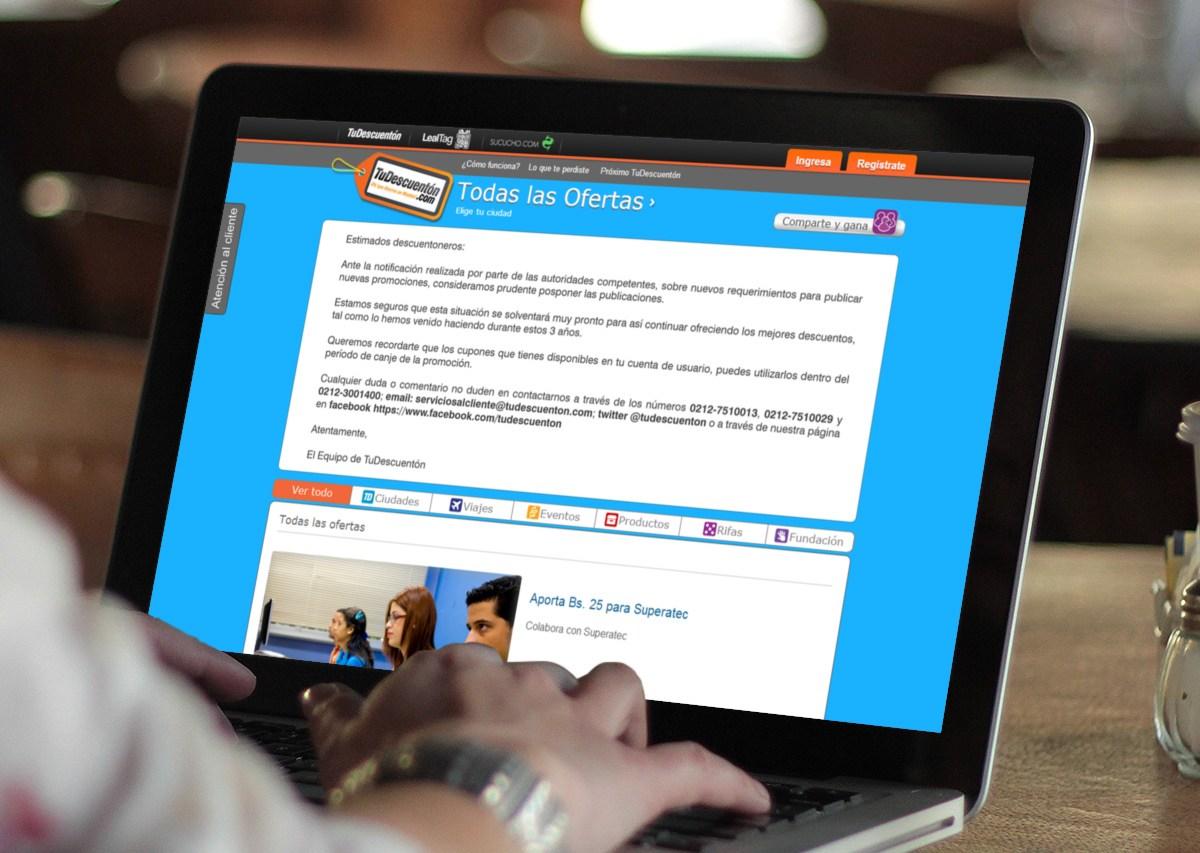 Sudeban Venezuela controla las webs de ofertas y cupones