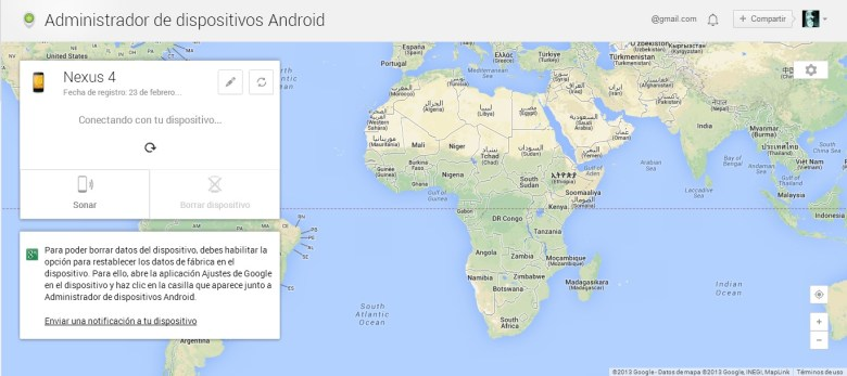 android device manager ya disponible