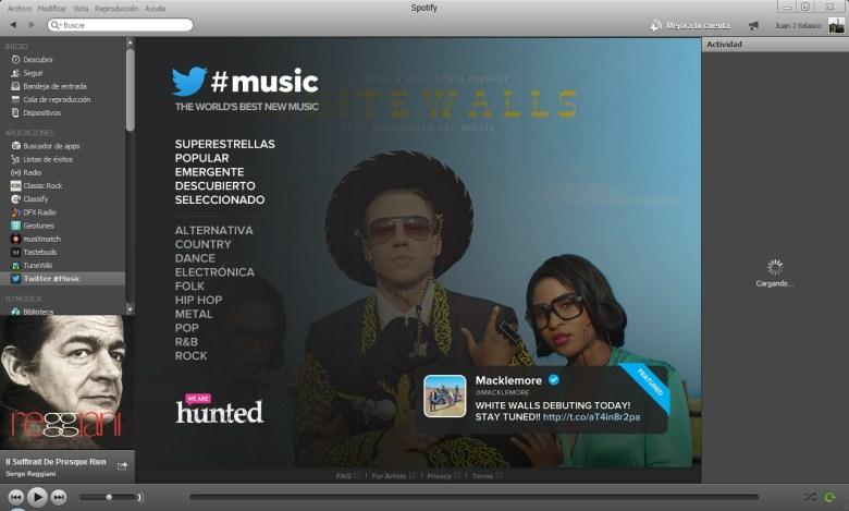 Twitter Music en Spotify