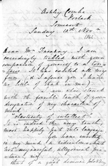 Carta de Ada Lovelace a Faraday