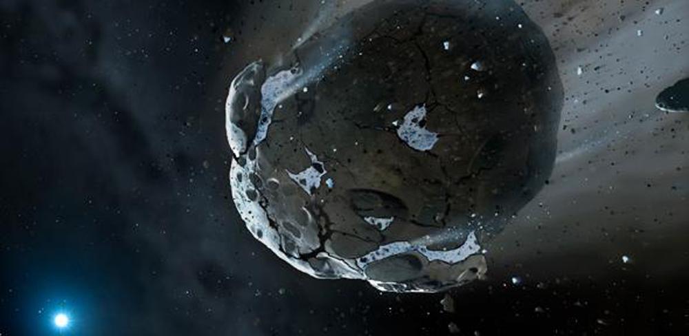 asteroide con agua