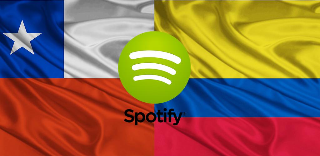 Spotify llega a Chile y Colombia