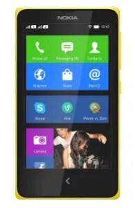 Nokia X amarillo