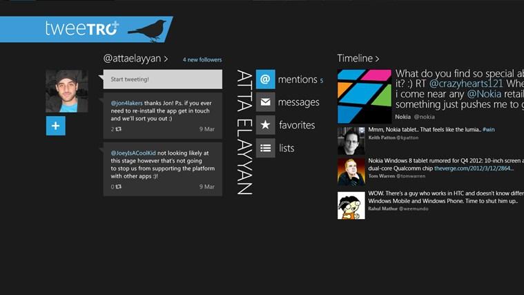 Tweetro plus - Alternativas a MetroTwit: mejores aplicaciones de Twitter para Windows