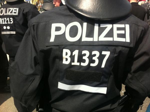 Identificación de policía alemana