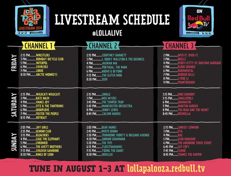 Horarios Lollapalooza Chicago 2014