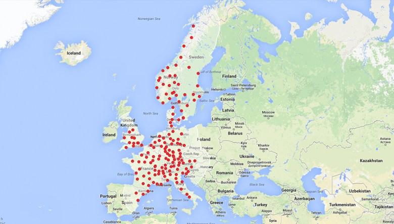 Estaciones proyectadas para el invierno de 2014-2015