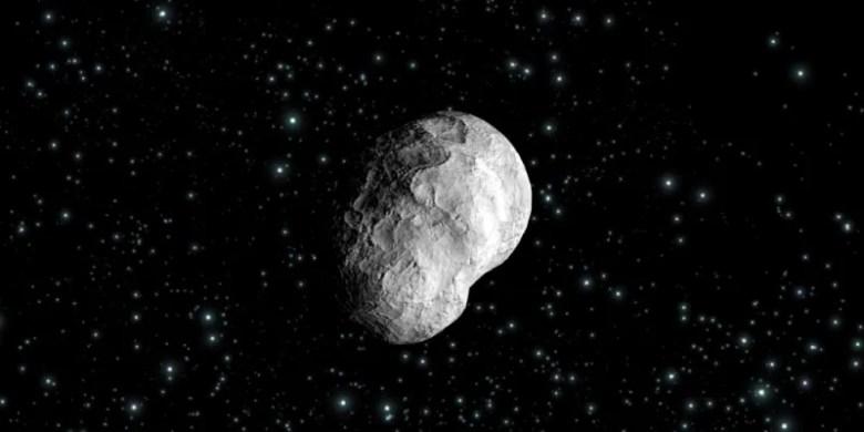 Cometa (2867) Šteins, infografía artística. Fuente: ESA.