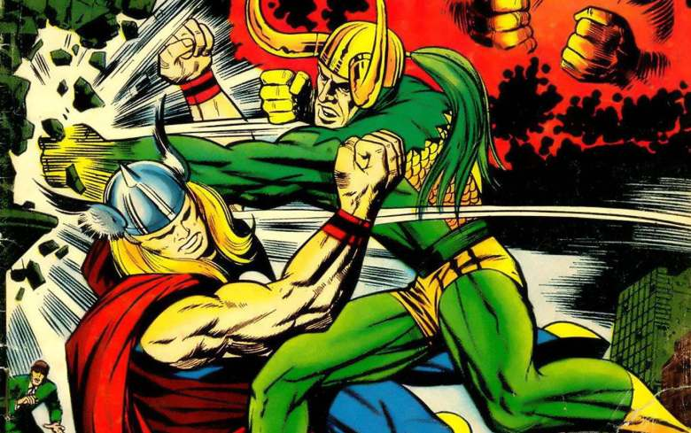 Jack-Kirby-draws-Thor-and-Loki