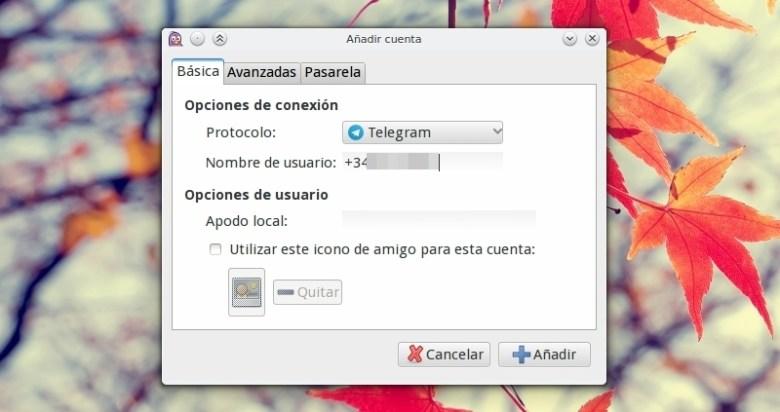 telegram desde pidgin