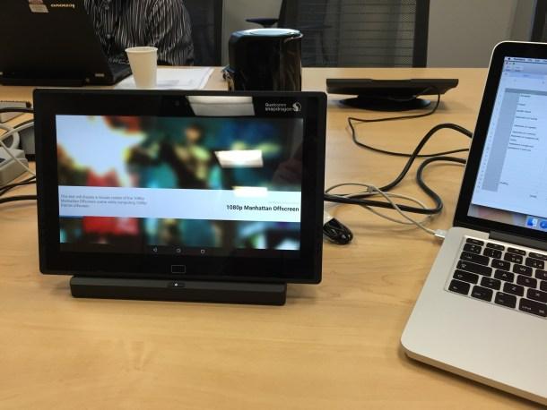 Foto tomada de la implementación prototipo Snapdragon 810 en las oficinas de Qualcomm San Diego, CA.