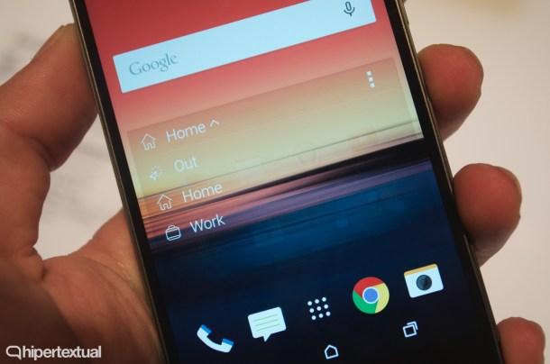 HTC Sense Home Widget se adapta en función de nuestra ubicación y necesidades, mostrando una serie de aplicaciones u otra. Algo similar a aplicaciones como Aviate.