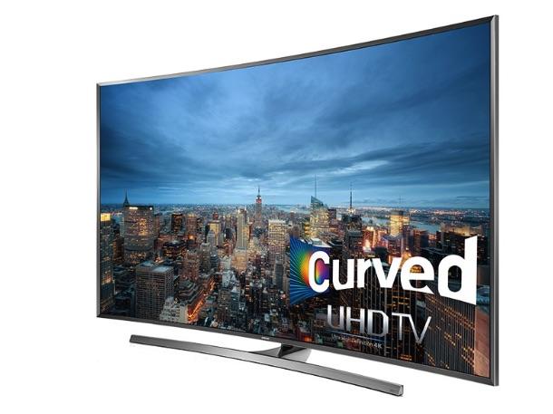 """Televisor UHD JU7500 de 78"""" y resolución UHD de Samsung."""