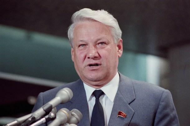 Boris Yeltsin en Washington (1989).