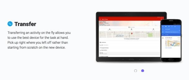 Con Transfer, enviamos nuestra tarea al dispositivo que nos ofrezca más comodidad en ese momento.