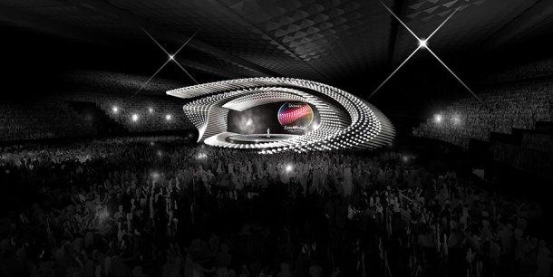 Recreación 3D del escenario de Eurovisión 2015 en Viena