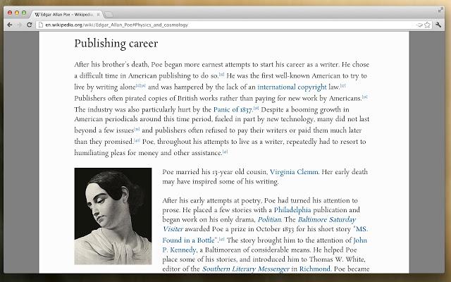 Mejorar la lectura en Chrome