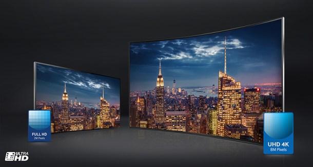 Comparativa resolución Full HD vs UDH - Samsung