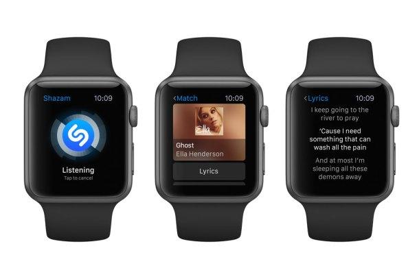 App de Shazam en el Apple Watch