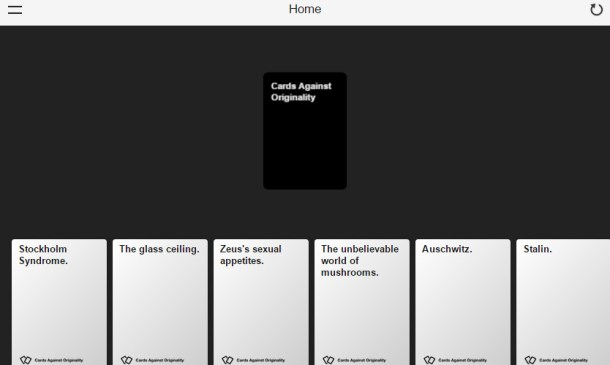 cards against humanity on line