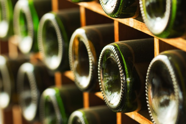 color de las botellas de vino