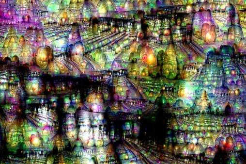 Imagen iterativa obtenida por las redes neuronales de Google. Michael Tyka/ Google