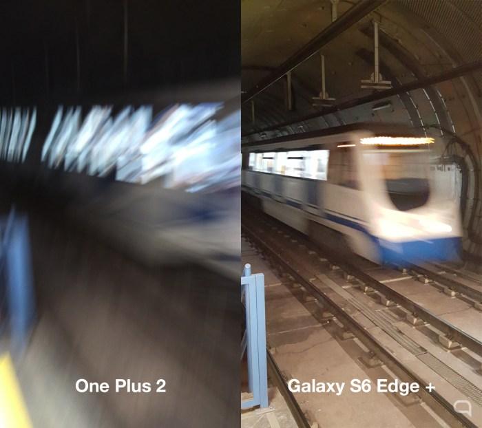 Al sacar una foto en HDR a un elemento en movimiento el OnePlus 2 se cae. — Para cuando acabó de procesar la imagen el metro ya había finalizado su frenada en el anden.