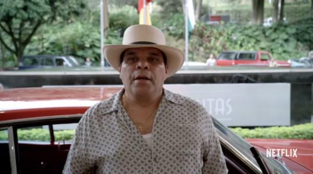 Luis Guzmán en el papel de Gonzalo Rodríguez Gacha, *El Mexicano*.