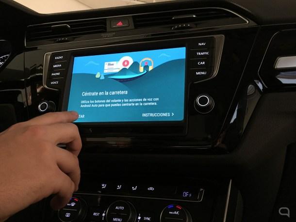 Pantalla de inicio de Android Auto