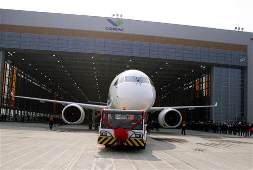Presentación del COMAC C919 en China. Fuente: AP Photo