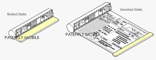 Patente pantalla enrollada