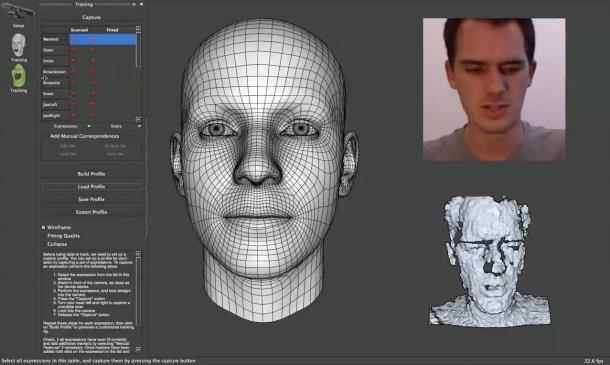 Faceshift traslada tus gestos a un modelo 3D en tiempo real con gran precisión.