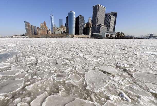 Manhattan desde el ferry de Staten Island en febrero. AFP - Timothy A. Clary.