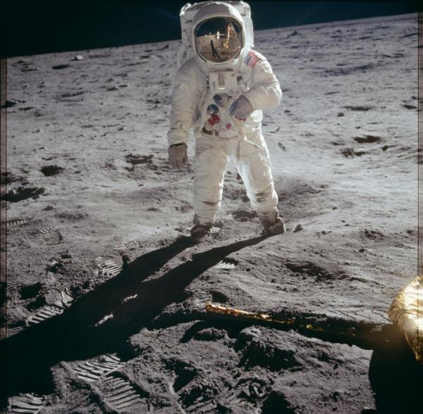 El astronauta Aldrin durante la misión Apolo 11. Reuters   NASA