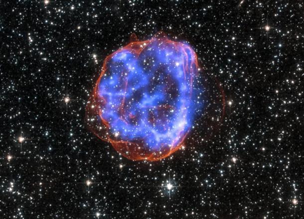 Los restos tras la explosión de una estrella masiva en la Gran Nube de Magallanes. Reuters | NASA | CXC | SAO