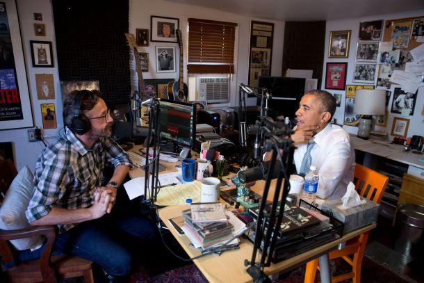 """Marc Maron y Barack Obama en el episodio 613 de """"WTF"""""""