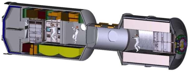 Este es uno de los conceptos de la NASA para módulos habitables en Marte.
