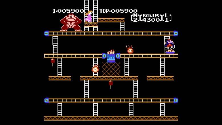 Donkey Kong, el juego para máquinas arcade de Nintendo diseñado por Miyamoto que establecería a la empresa como líder absoluto durante años.