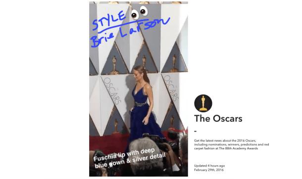 Oscar Snapchat